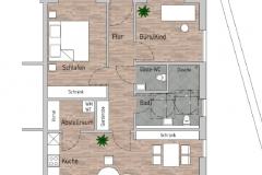 Grundriss Wohnung 5, ca. 87 qm